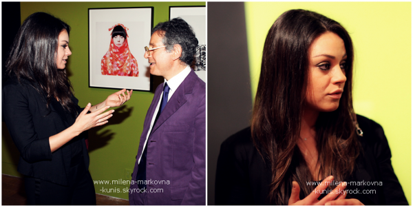 . Spotted : Mila toute jolie lors d'une réception donnée par MOCA et Mac Cosmétics.   ................(WEST HOLLYWOOD) - 25février 2012 .