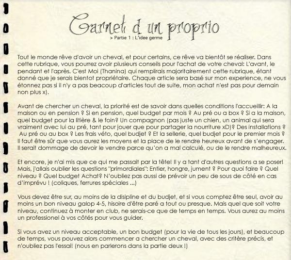 Le guide du nouveau Proprio: Partie un: L'idée germe