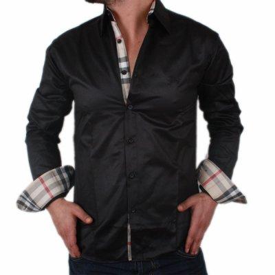 937aa2e9d0f4 chemise burberry noire homme