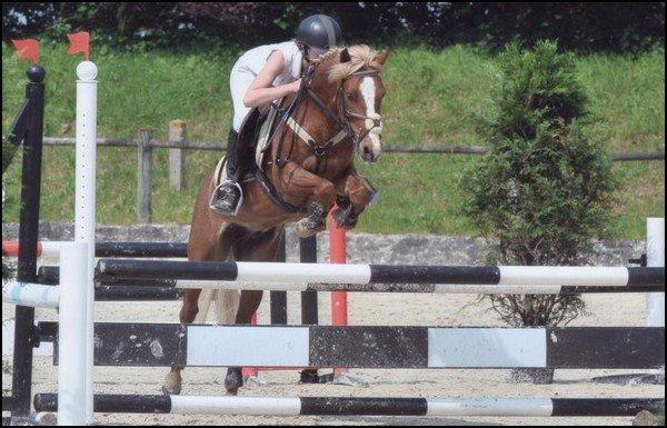 Anaïs Diavet-Legrix et Rambler Deux pour le poney club de Fleury-sur-Orne.