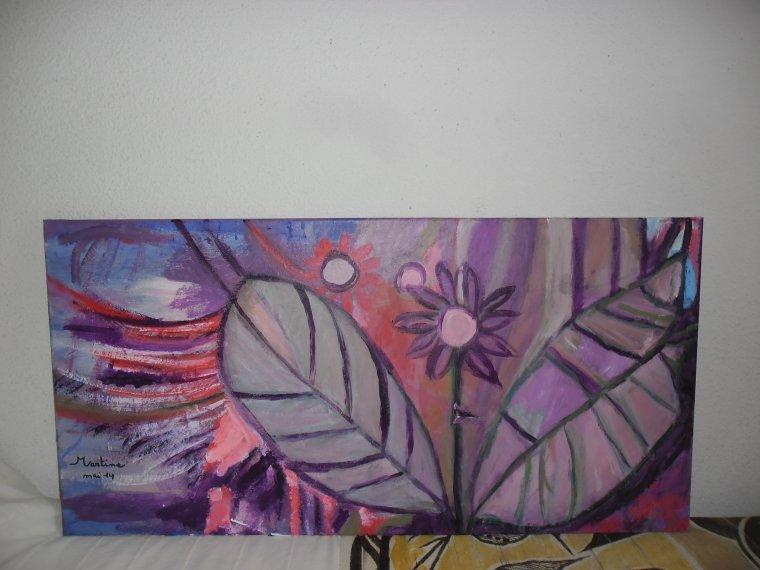 Les feuilles, peinture acrylique sur toile