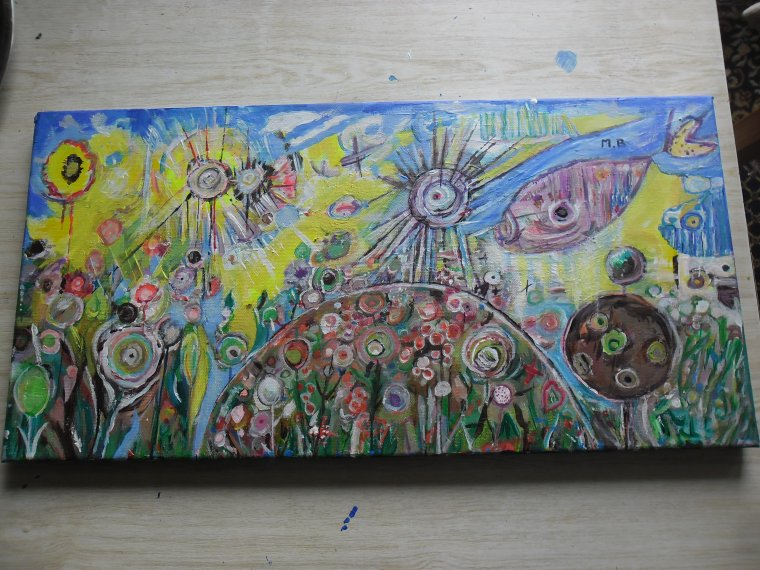 ma peinture sur toile (peinture acrylique) Juin 2014