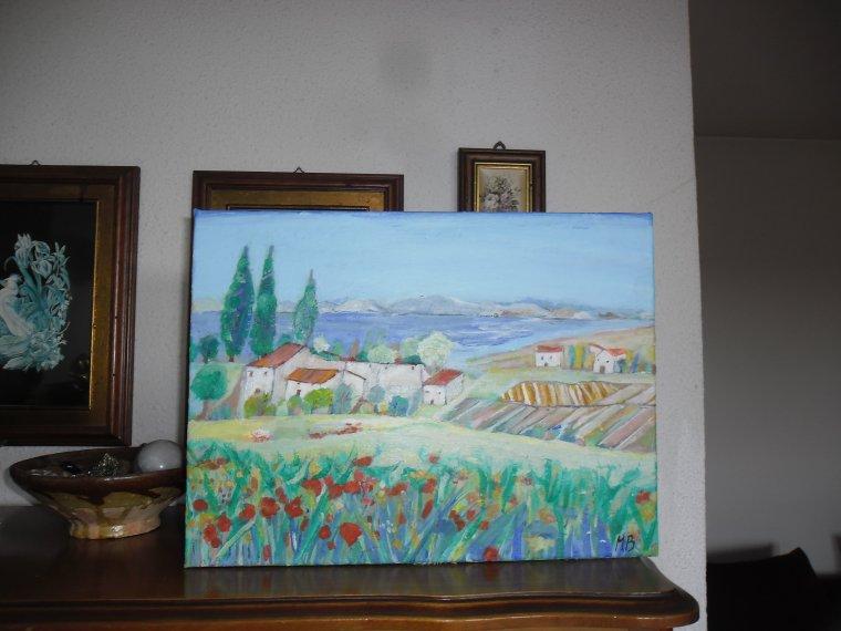 Paysage. Peint sur toile de 30 x 40 cm