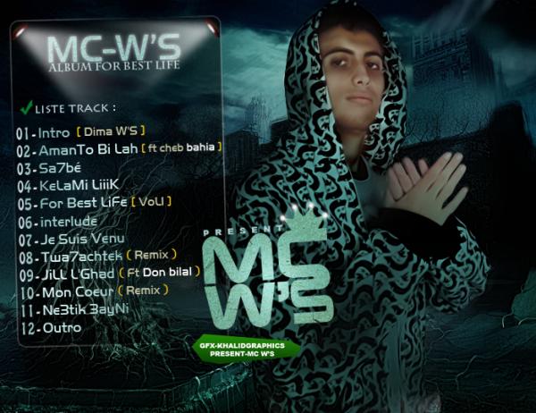 L'album Mc W'S ( For Best Life ) est en telechargement gratuit sur