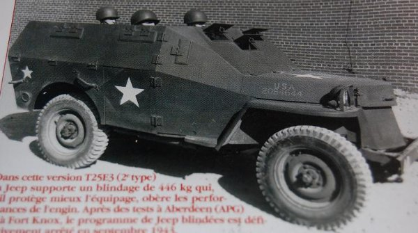 jeep willys version t25e3 au 1 72 maquettes militaires 1 72. Black Bedroom Furniture Sets. Home Design Ideas