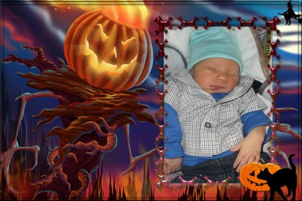 montage d'halloween ......Ethan