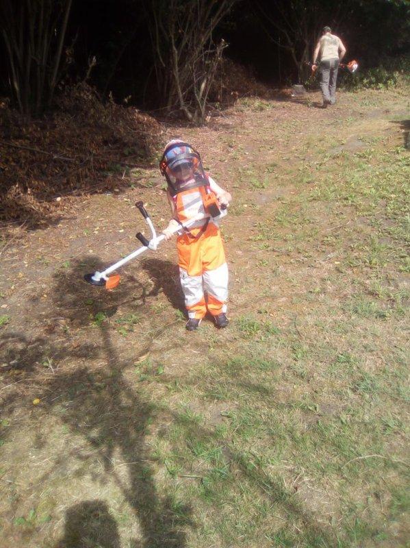 Opération jardinage pour Ethan