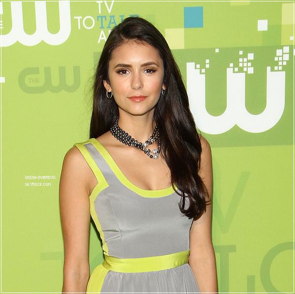 """Le 19 mai, Nina accompagnée de Ian et Paul étaient à l'évènement """"The CW Upfronts"""""""