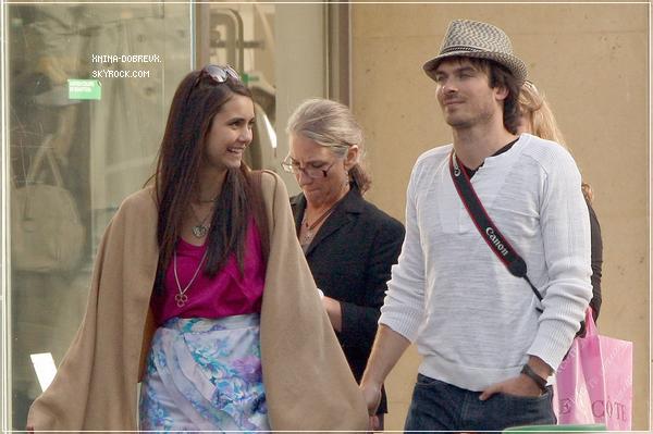 Nina Dobrev et  Ian Somerhalder à Paris.