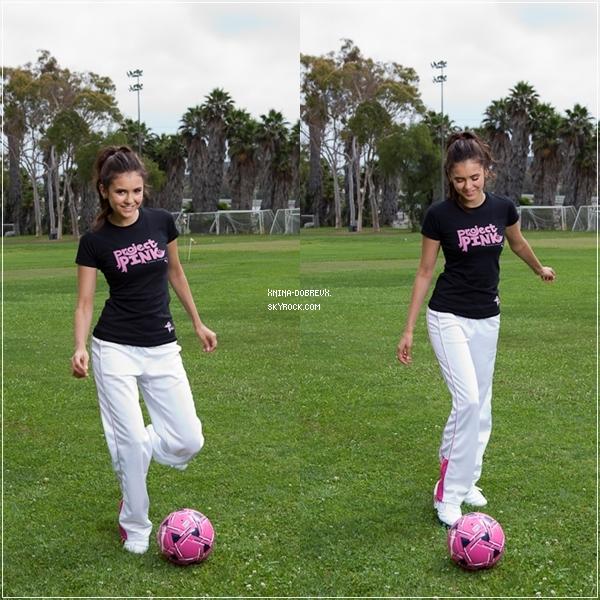 """Nina pour la campagne de Puma """"Pink Project""""."""