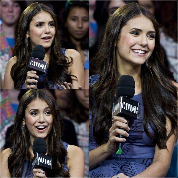 """27.09.2011  Après  """"WE Day""""  Nina se retrouve  plus tard dans l'émission """"New Music Live"""""""