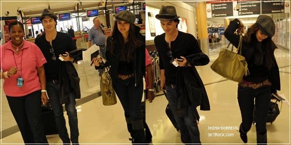 Nina et Ian ont été aperçu à l'aéroport d'Atlanta en Géorgie direction New York City
