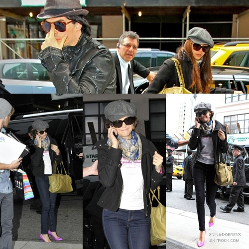 02.10.2011 |  Nina au programme sortie dans NYC et Pink Project Day.