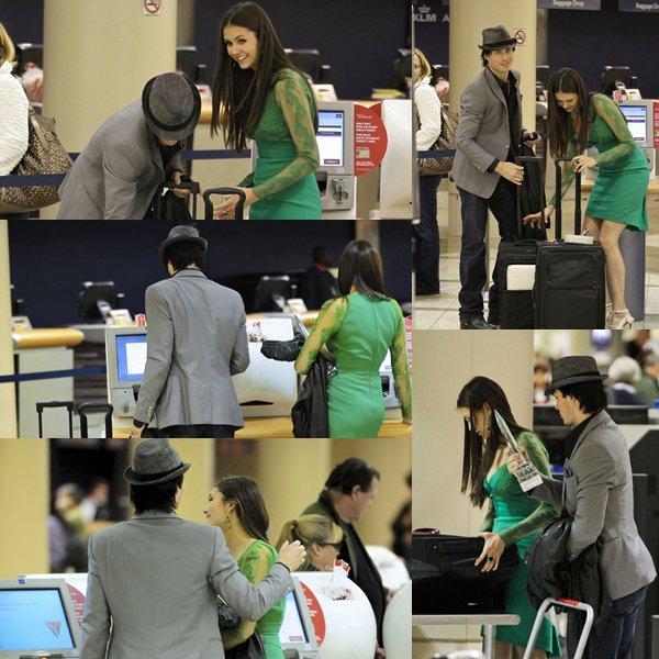 juste après la cérémonie Nina et Ian somerhalder était ensemble a l'aéroport de Los-Angeles