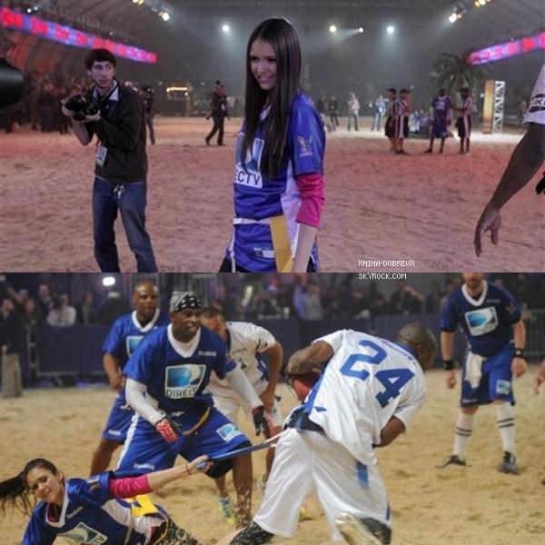 04.02.12 Nina était présente au 6éme Annuel Celebrity Beach Bowl organisé par DirecTV.