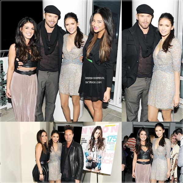Nina à la fête organisée par Nylon et Got2B pour célébrer le numéro de Février du magazine.