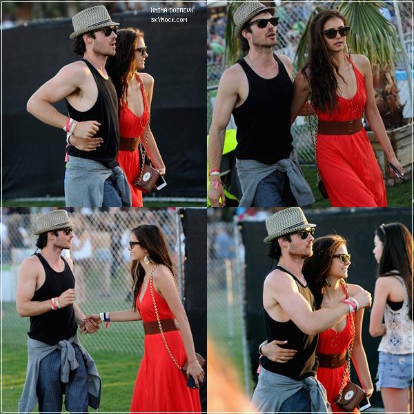 15/04/12 Nina avec Ian au 3ème jour du Festival de Coachella.