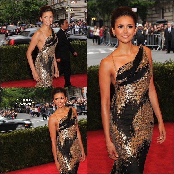 Nina au Gala Metropolitan Museum Of Art's Costume Institute. → Magnifique!