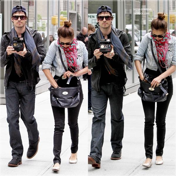 8/05/12  Nina & Ian sortaient de l'hôtel Trump Soho de New York.