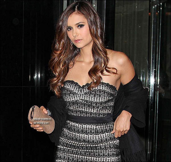 17/05                Nina après les CW Upfronts se rend à l'after party.