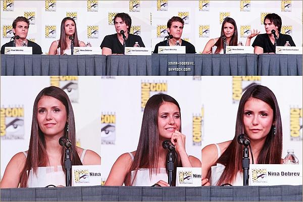 14/07        Nina et une partie du Cast de tvd au Comic-Con .