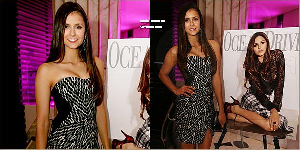 18/08        Nina  à Miami pour une soirée organisée en l'honneur du magazine 'Ocean Drive'.