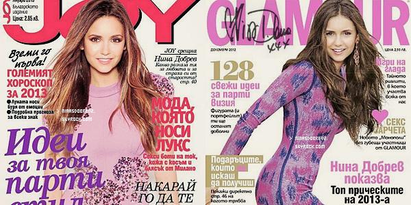 13 Dec.  Nina en couverture de Joy magazine & de Glamour .