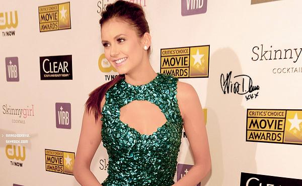 10 Janv.  Nina était présente à la 18ème cérémonie annuelle des Critics Choice Movie Awards  .