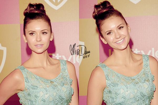 13 Janv.  Nina était présente à la soirée  Warner Bros et InStyle Golden Globe Awards After Party.