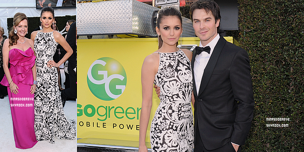 - 24.02.2013 Nina était présente au 21ème annual Academy Awards Viewing Party .   -