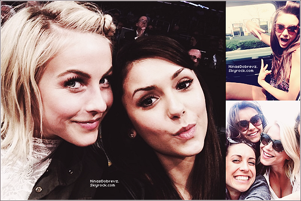 - 17.03.2013 Nina & la chanteuse Julianne Hough au match des Lakers à LA.