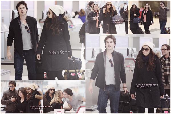 31.03.2013 Nina sa mère & Ian à l'aéroport deLester B. Pearson.
