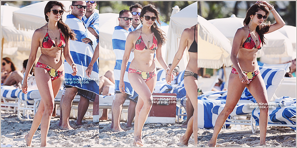 28.04.2013  Nina toute radieuse est retourné à la plage avec Julianne & des amies.