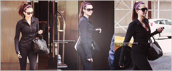 05.05.2013   Nina à l'extérieur de son hôtel à NYC .