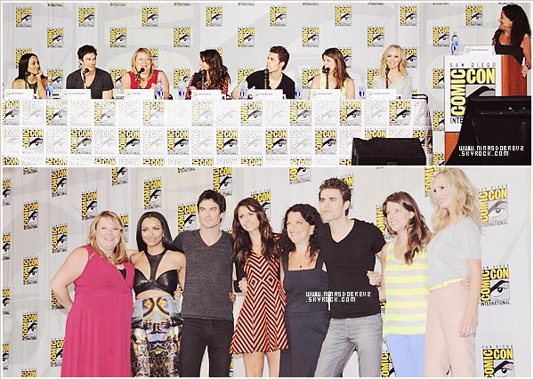 20th July -Nina & quelques membres du cast de TVD étaient présent au traditionnel Comic-Con qui à eu lieu à San Diego.