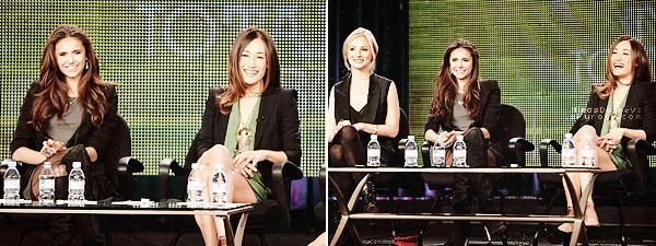 14.01.2011 flashback -Nina accompagné de Candice Accola était au TCA Tour
