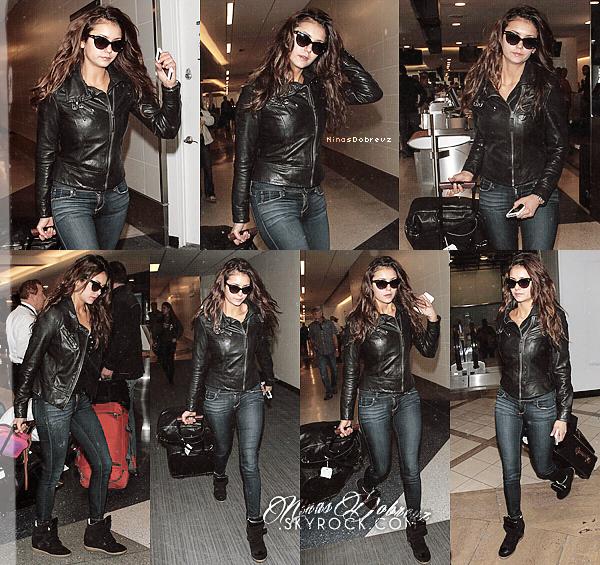 22nd.03.2014 Candid -Nina à l'aéroport de LAX, LA