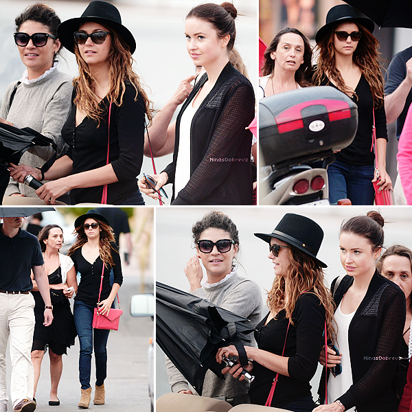 11th.06.2014 Candids - Nina with Emma Miller in New York City .