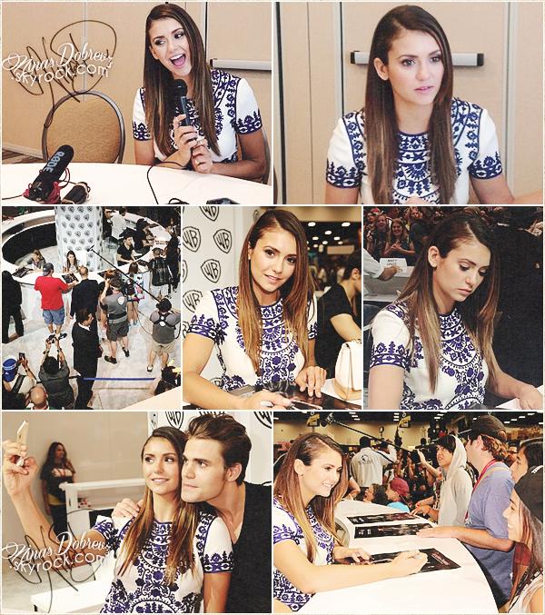 Comic-Con International: San Diego(Day 2) - Pour Nina cette nouvelle journée à San-Diego fut cette fois-ci consacrée à sa série The Vampire Diaries.