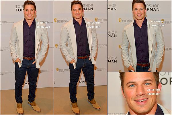 _ 30/04/13 : Matt Lanter sur le tapis beige, au BAFTA à Los Angeles pour la célébration du Britsh New Weave . -