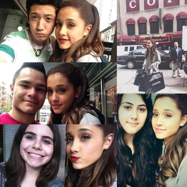 13/06/2013 - Ariana a été faire les magasins avec sa maman à NY et à pris quelques photos avec des fans  Un prochain duo/featuring avec Justin Bieber