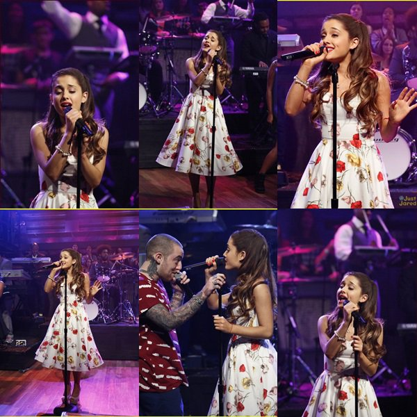 Ariana performant The Way sur le plateau de Jimmy Fallon