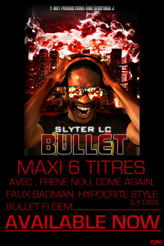 "SENS'HIGH J ""DREAMAKA"" PRESENTS :  "" SLYTER LC - BULLET "" (6 TRACKS EP - MAXI 6 TITRES)"