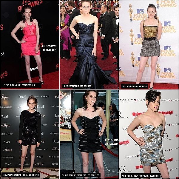 * Kristen nous a éblouis lors des différents évènement 2010, mais toi quel est ta tenue préféré ?*