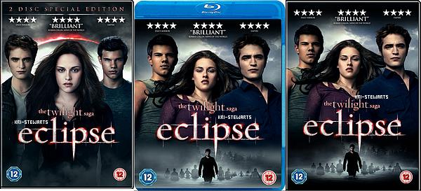 * Voici les  couverture européenne du troisième volets de la saga Twilight.____________ Le dvd sortira le 4 Décmbre au Etats Unis et le 3 Decembre en France ! Il contiendra un commentaire de Robert et Kristen... Votre avis ?*