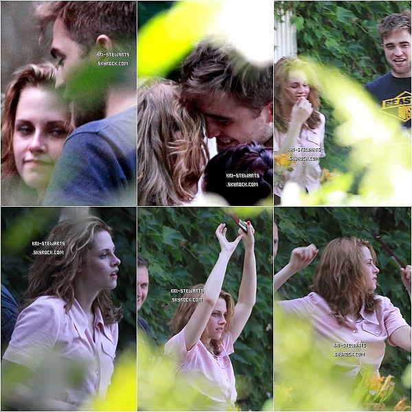 """* 12.08:__Kristen et ROBERT sur le tournage du prochain film de madame """"On the road""""___________________________  C'est trop mignon je trouve, ils sont vraiment beaux. Je suis une adepte de Robstent et toi ?*"""