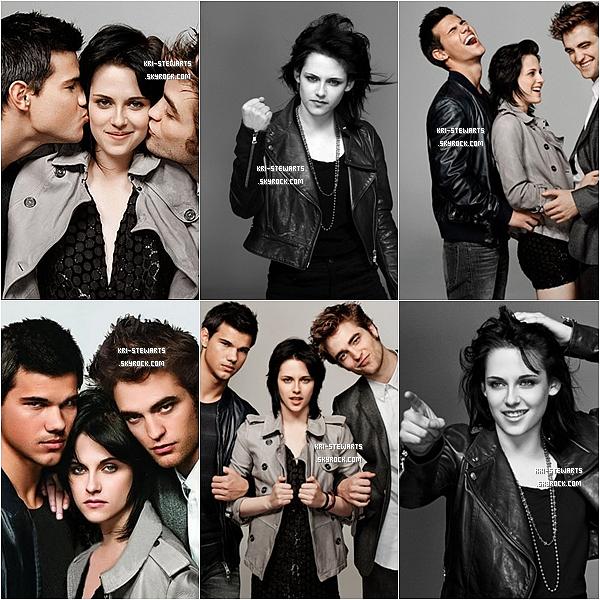 * Voici des photos sublime de Kristen, Robert et Taylor pour le magasine Entertainment Weekly datant de 2009.__ Votre avis ?*