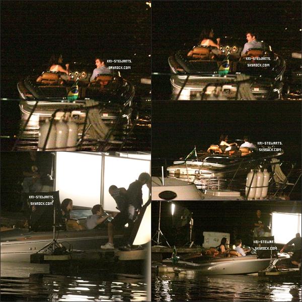 * 7 Nov: Kris et Rob sur le set de Twilight 4, tournant les scène de la lune de miel d'Edward et Bella !*