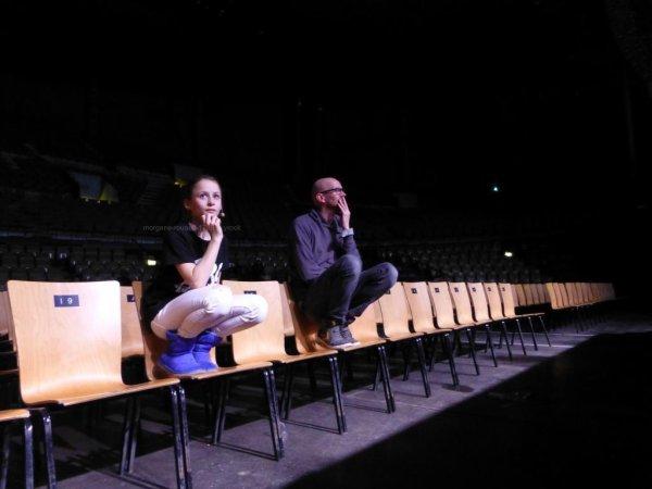 Morgane en répétition au Zénith de Lille