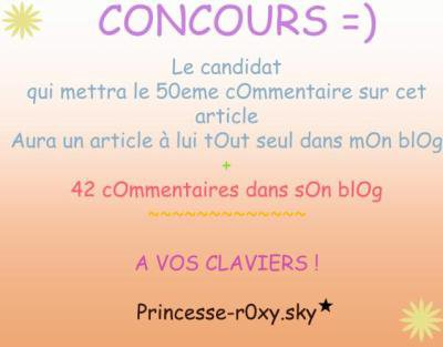 CONCOURS = RECOMPENSE